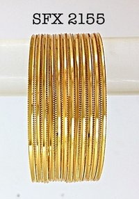 Gold Plated Fashion Brass Bangle