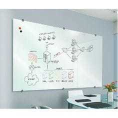 white glass marker board