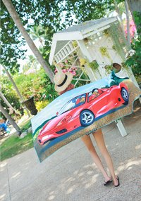 Custom print beach towels