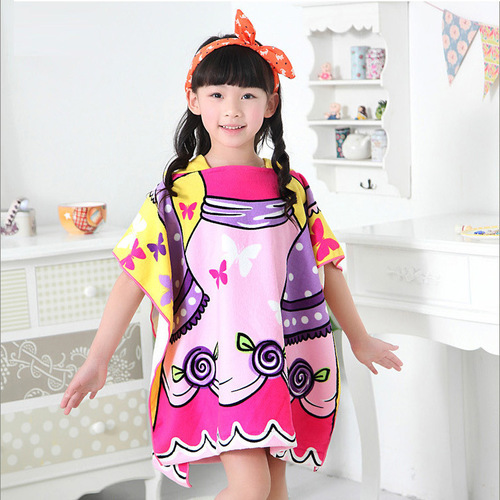 Kids Beach Poncho Towel