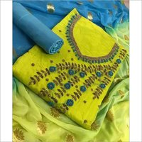 Designer Chanderi Dress Material