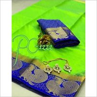 Kanjivaram Big Peacock Design Saree