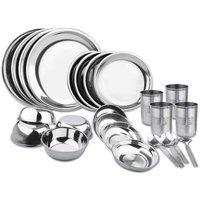 Steel Dinner Set
