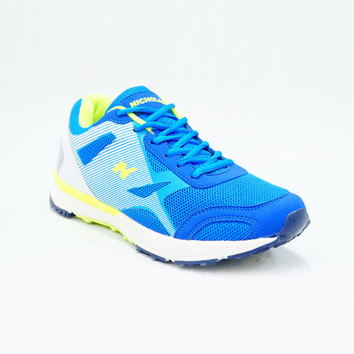 Nicholas Ballistic Royal Blue, Cyan Blue and White Shoe