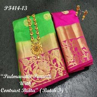 Kanjivaram Jungle Butta Design Saree