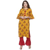 Ladies Floral Kurti Palazoo Set