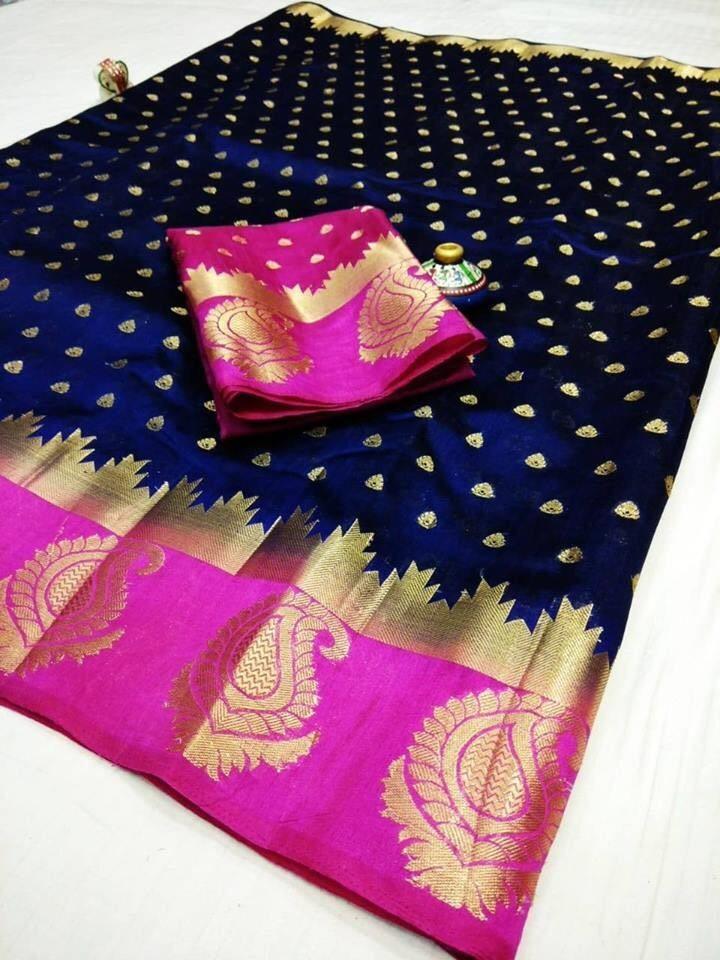Kanjivaram Mango Butta Design Saree