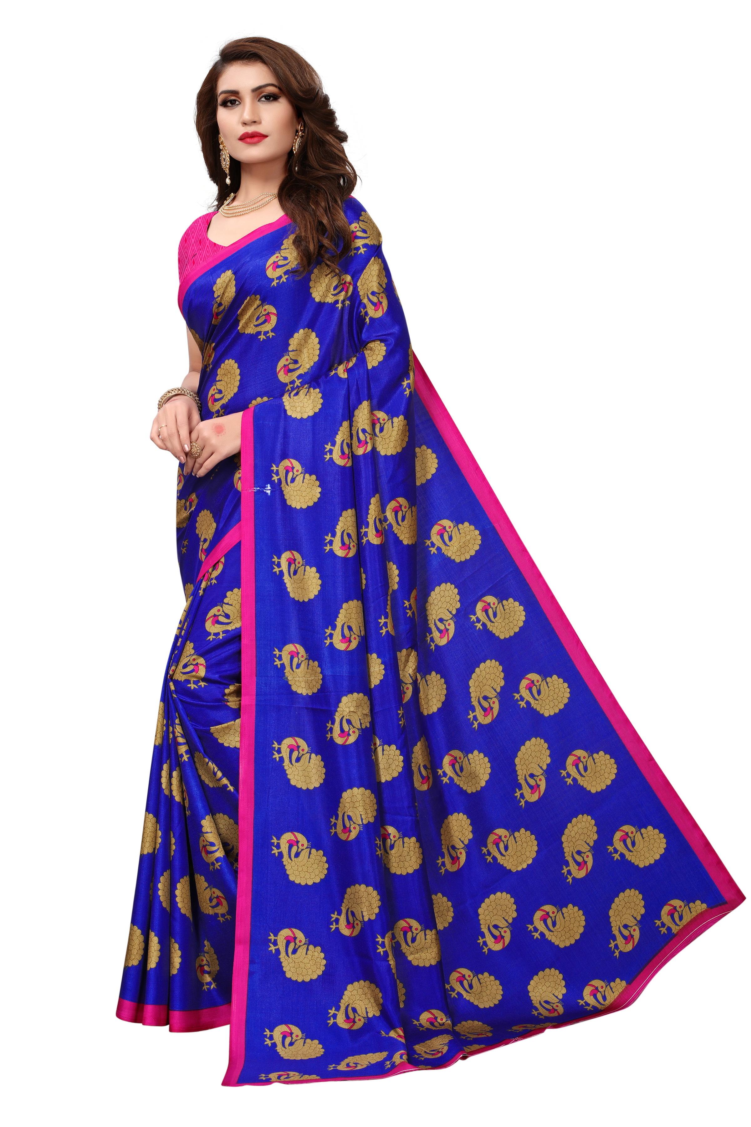 New Maalgudi Gopala Blue Saree