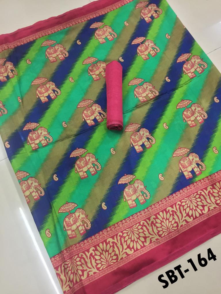 New Women Art Silk Saree