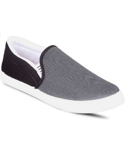 Grey Mens Canvas Slip on Shoes
