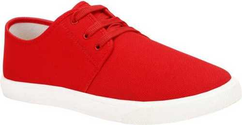 Comfort Red Mens Canvas Slip Shoes