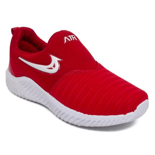 Men Black Pu Mesh Sports Shoes