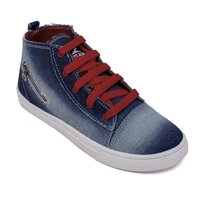 Blue Grey Canvas Shoes