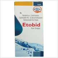 Gentamycin Sulphate 0.3% W/V, Beclomethasone Dipropionate 0.025% W/V, Clotrimazole 1% W/V, Lignocaine 2% Ear Drops
