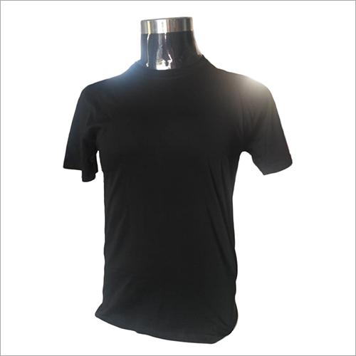 Mens Round Neck Black T-Shirts