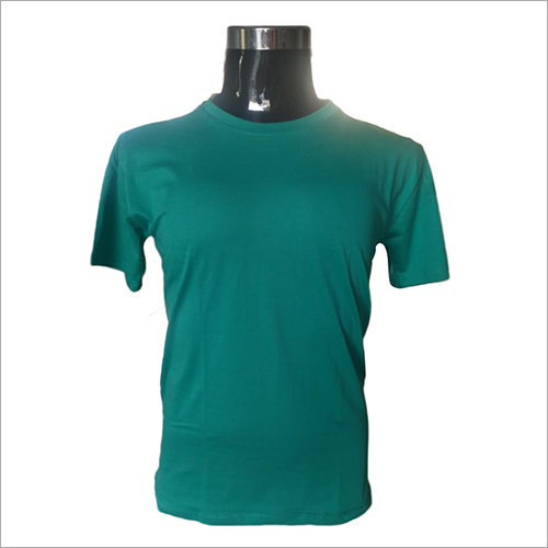 Mens Round Neck Green T-Shirts