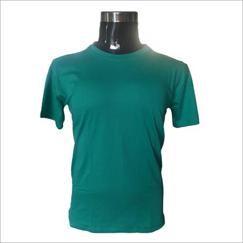 Mens Round Neck Green T-Shirts