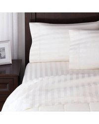 Micro Stripe White Bed Sheet Fabric
