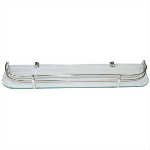 Floating Bathroom Glass Shelf