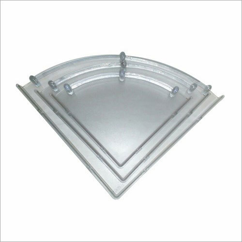 Unbreakable Plastic Corner Shelf Set