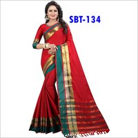 New Soft Cotton Silk Saree With Fancy Jhalar