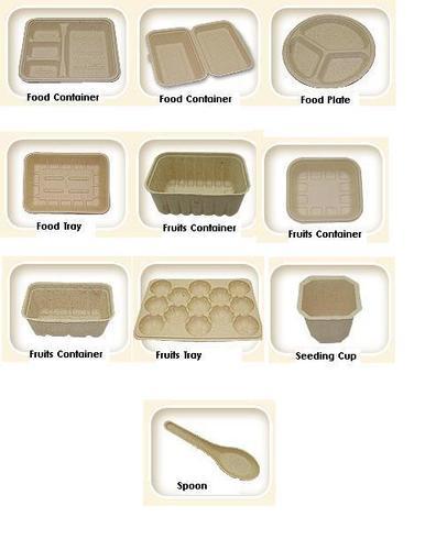 Disposable bagasse pulp plate food box making machine