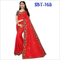 New Design Heavy Embroidery work Sana Silk Saree