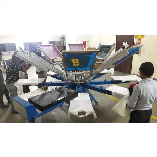 8 Head Manual T-Shirt Screen Printing Machine
