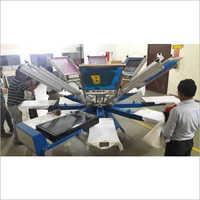 8 Head Manual T-Shirt Screen Printing Machine