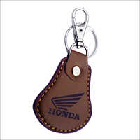 Leather Car Keychain