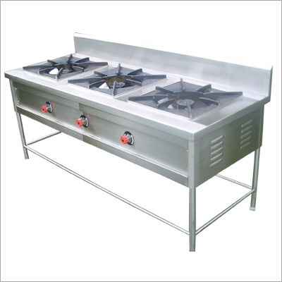 Commercial Three Burner Gas Stove