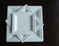 Bagasee Sugarcane Square Plates
