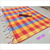 NEW Women's Checks Printed Saree
