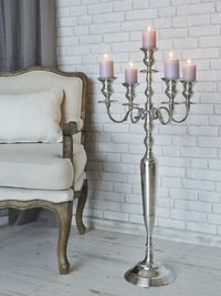 Antique Silver Candle Holder