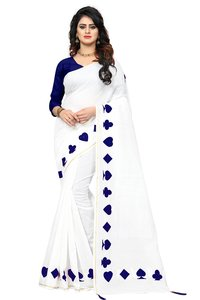 Chanderi Cotton Saree With Embroidery Work
