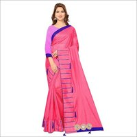 Pure Soft Polyester Saree with Beautiful Embroidery design