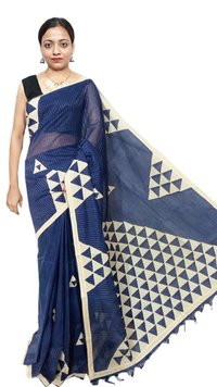 Cotton Appliqe Saree