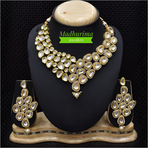 Artificial Diamond Necklace Set