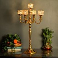 Brass Candelabra Gold Finish