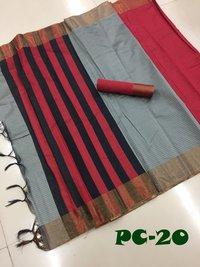 Poly Soft Cotton Saree