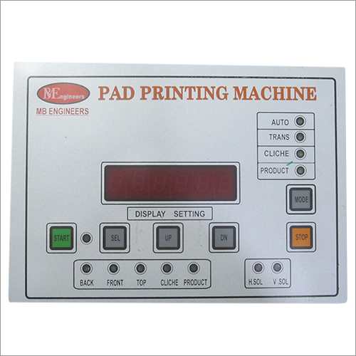 Digital Pad Printing Machine Control Card Display