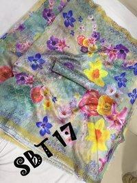 Flower Digital Printed Saree