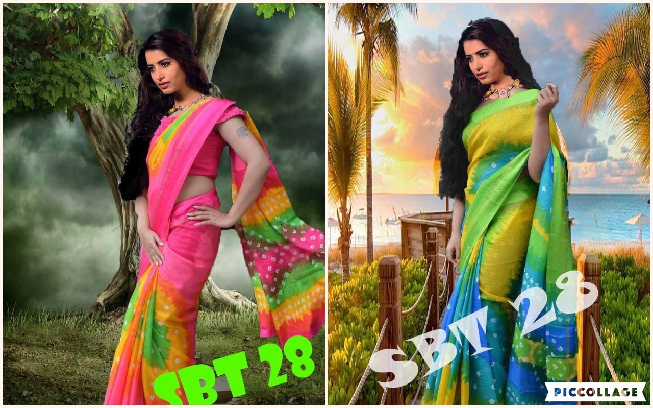 Printed Tapadiya Checks Saree
