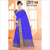 Tussar Silk Saree With Jhalar
