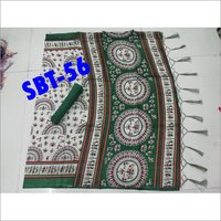 Art Silk Printed Saree With Jhalar