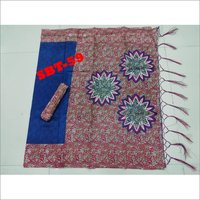 Printed Art Silk Saree With Jhalar