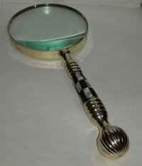 Brass Large Magnifying Glass