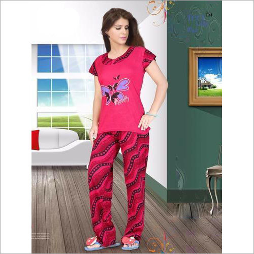 Ladies Viscose Night Suit
