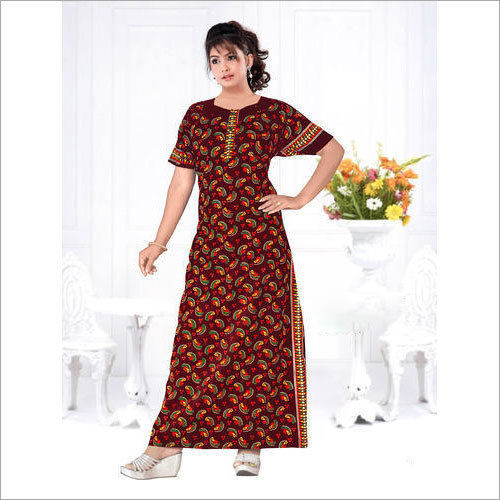 Ladies Printed Designer Nighty