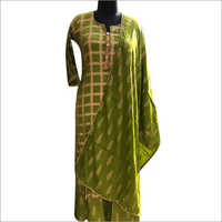 Ladies Cotton Silk Palazzo Suit